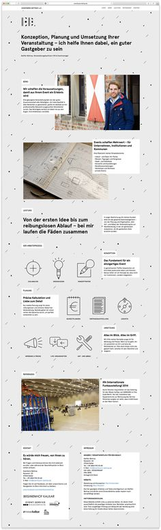Eventbüro Bettray by Paul Schoemaker #website #web design #site