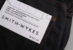 Smith Wykes designed by Studio Small #emboss #heritage #branding #serif #sans #label #tag #logo #stitch