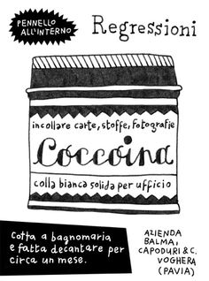 Coccoina #illustration #drawing #glue #italy #school