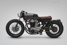 Yamaha XS650 custom motorcycle #motorcycle thrive #caferacer #cafe #racer #grey
