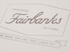 FormFiftyFive – Design inspiration from around the world » Blog Archive » Austin Taylor Studio #banner #script #guitars #fairbanks #logo