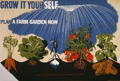 Plan a Farm Garden #garden #plant #poster #typography