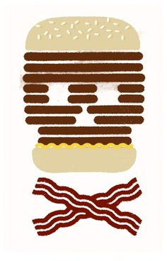Yarek Waszul Illustration #illustration #bacon #waszul #hamburger