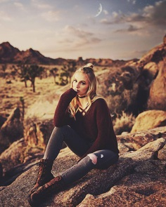 Katie Grace Bell by Matt Garcia in Joshua Tree National Park