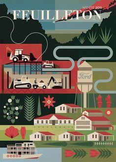 Área Visual: Las ilustraciones de Mike Lemanski #design #graphic #ilustration #vector