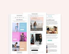3 Email Newsletter Templates Bundle | Etsy