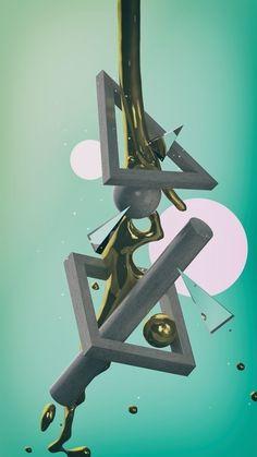 Gold #xparticles #c4d #3d
