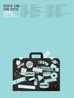 All sizes | Death Cab For Cutie - Summer 2011 Tour | Flickr - Photo Sharing! #illustration #design #travel #suitcase