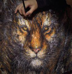 Hua Tunan #tiger #drawing #cat