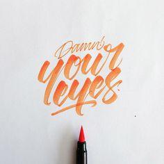 Calligraphy, typography, handwritten