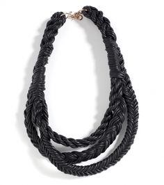 Aiguilette Leather Necklace – Sight Unseen #fashion #design #necklace