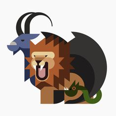 Oh My God, Hey Studio #illustration #animal #minimal #geometric