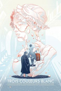 Three Colours: White Movie Poster by Victo Ngai