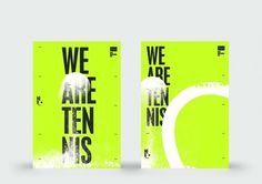 Sam Dallyn - We Are Tennis - Branding for BNP Tennis website #poster #typography