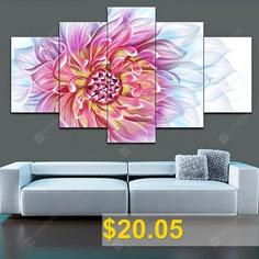 Jingsheng #5PCS #Print #Flower #Wall #Decor #for #Home #Decoration #- #COLORMIX