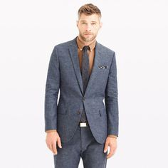 Ludlow suit jacket in Japanese chambray - suiting -Men- J.Crew #suit