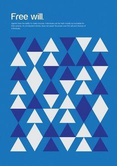 24 courants de pensée exprimés sous formes basiques « Publiz – Inspiration graphique et publicité créative #minimalist #illustration #philosophy