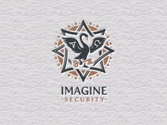 Imagine Security #logo #imagine #letterpress