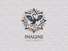 Imagine Security #logo #imagine #letterpress