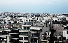 There is a sea on top of our roofs #urban #city #downtown #photography #sea #greece #blue #horizon #view #buildings #athens