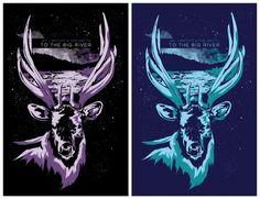 a night well spent. « The Portfolio of Daniel Evan Garza #poster #elk #deer #screenprinting #screen printing #daniel evan garza