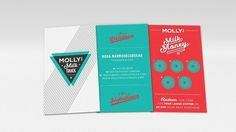 Molly's Milk Truck Business Card Design | Imagemme New York #branding #business card #milk #truck #triangle