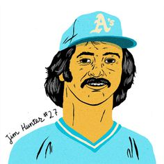 Mid 70's Baseball Dudes Paul Windle #illustration