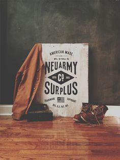 Neuarmy Surplus Signage #typography #type #hand drawn #signage #sign painting #surplus neuarmy