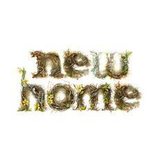"""Nested"" Typography Home Sweet Home #type #watercolor"