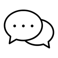 See more icon inspiration related to chat, conversation, speech bubble, communication, communications and multimedia on Flaticon.
