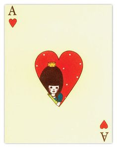 paper crave #illustration, Ace, Heart, illustration, cards