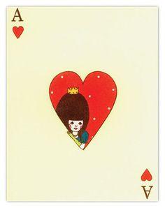 paper crave #illustration, Ace, Heart, illustration, cards