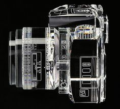 Glass Sculpture of Canon 7D | PICDIT #art #glass #sculpture