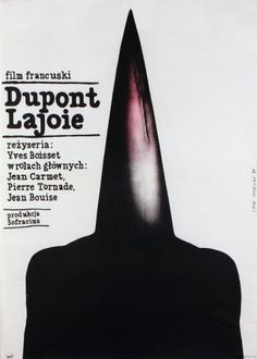 Dupont Lajoie - Film, French - Polish Movie Poster: Polish Posters Shop #movie #white #black #poster #and