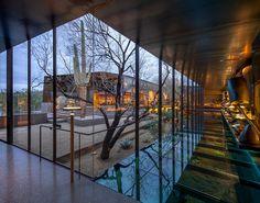 wendell burnette architects desert courtyard house designboom #home