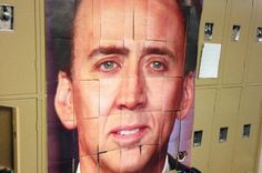 Nicolas Cage Photo Locker Decoration #design #makeup #decor #locker #decoration
