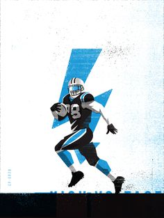 JSTEW1 #Illustration by Matt Stevens #Sports #NFL #Carolina #Panthers #American #Football
