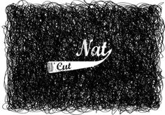 Nat Cut Identity on the Behance Network #logo #barbershop #clipper
