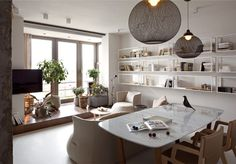 Elegant and Stylish Apartment Renovation by Olga Akulova - #decor, #interior, #homedecor, home decor, interior design