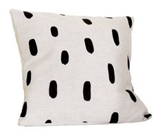 Linen Brushstrokes Pillow 13 x 13 in. #pillow