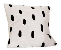 Linen Brushstrokes Pillow   13 x 13 in.