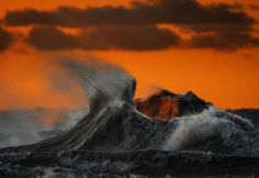 The Freak Liquid Mountains Of Lake Erie by Dave Sandford #Photography #lake #liquid #art #unique