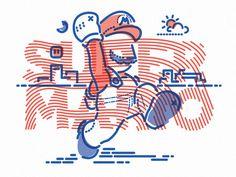 Super Mario x Colour and Lines