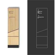 Wayfinding | Signage | Sign | Design | 木板不锈钢叠层导视系统