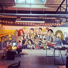 Denver Artist Scot Lefavor for Legwork #scot #mural #graffiti #legwork #office #denver #colorado #wall #art #lefavor