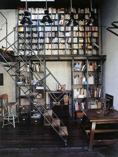 Airows #stairs #bookcases #interiors #architecture