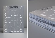 STILLS Designed by; MAINSTUDIO #binding #print #book #architecture #typography