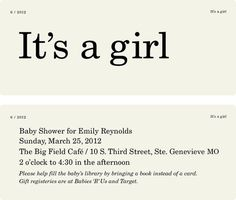 it's a girl / LAURA COGGINS #type #invitation