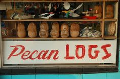 All sizes | Pecan Logs | Flickr - Photo Sharing! #type #lettering #sign #hand paint