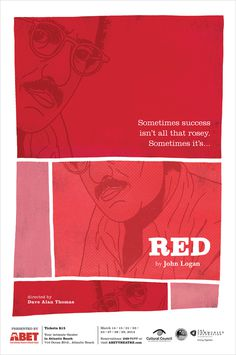 "poster for ""RED"" , for ABET"